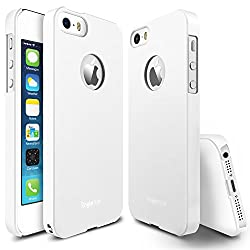 Rearth Ringke Slim Hard Cover with Free Premium Screen Protector for Apple iPhone 5S/5 (White)
