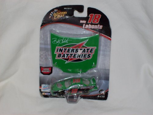 2005 Winner's Circle Bobby Labonte #18 Interstate Batteries Die Cast w/ Hood Magnet - 1