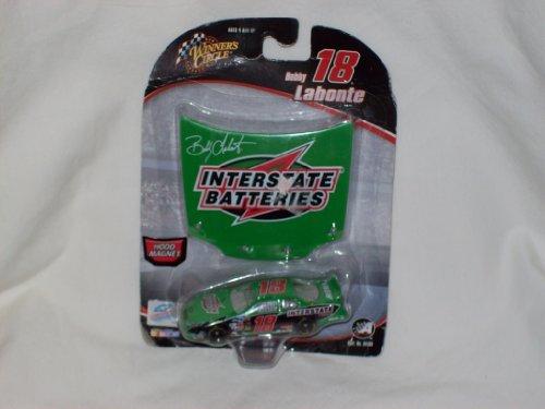 2005 Winner's Circle Bobby Labonte #18 Interstate Batteries Die Cast w/ Hood Magnet - 1