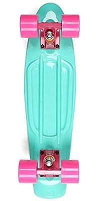"Complete 22"" Retro Plastic Cruiser Skateboard - Vintage 70s Style EDGE Series"