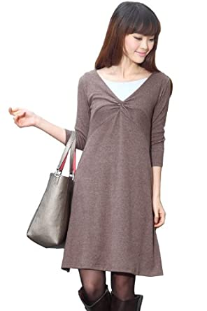 Sweet Mommy Twist Design Maternity and Nursing Dress with 2 nursing inners sw9068 MKS