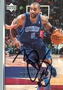 Carlos Boozer Autographed Hand Signed Basketball Card (Utah Jazz) 2007 Upper Deck... by Hall of Fame Memorabilia