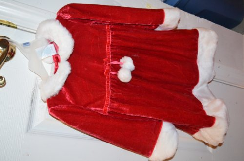 Wonderkids Santa Claus Dress Red & White Dress Nwt 12 Months & Diaper Cover front-47119