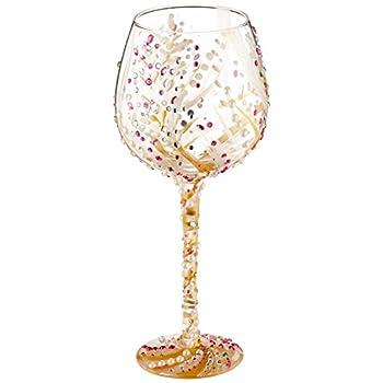 Enesco Bling 10th Wine Glass, 10