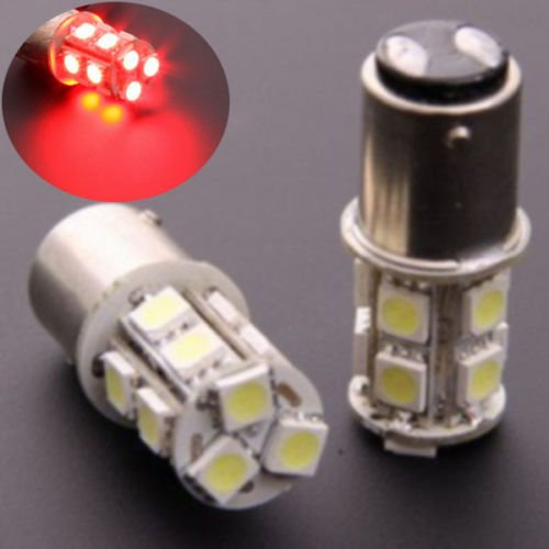 Edis Hot 2X 1157 Red Bay15D P21 5W 13Leds Dual Filament 5050 Smd Car Tail Brake Turn Signal Led Light Bulb Lamp