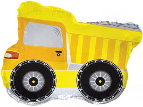 "22"" Yellow Dump Truck Shape Balloon"