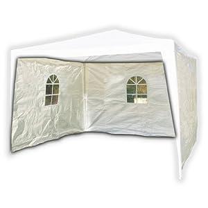 2er Set Seitenwand PE weiß für 3x3m Pavillon, mit Fenstern, Seitenteil, Seitenwände, Seitenteile, Pavillion