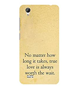 ifasho True love quotes Back Case Cover for VIVO Y31L