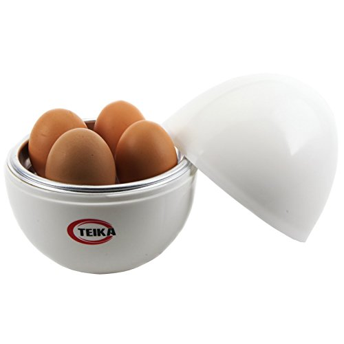 Teika® Microwave Egg Boiler Cooker Chicken Shaped Egg Poacher Plastic for 4 Eggs Kitchen Exclusive Electric Egg Cooker Aluminum (Egg Cooker Chicken compare prices)