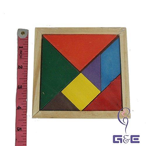 Tangram (Seven Pieces Puzzle) Wooden