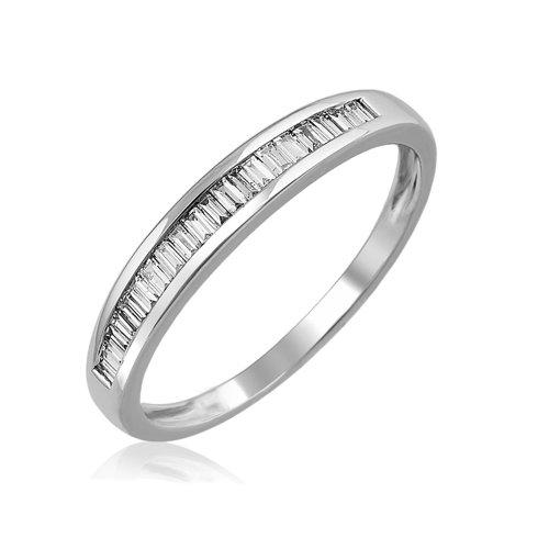 14K White Gold Diamond Wedding Ring Band (Gh, I1-I2, 0.25 Carat)Size 6
