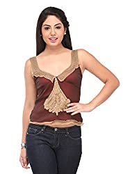 Cappadocia Women's Slim Fit Top (Cap00010 Maroon_M, Maroon, Medium)