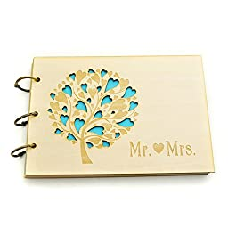 Wedding Guest Book, Wedding Guestbook, Wedding Tree Guest Book, Wedding Gift Keepsake, Rustic Wedding Guest Book With 100 Pages (First page No.7)