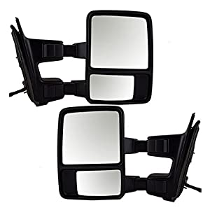 Driver and Passenger Power Towing Side View Mirror Replacement for Ford Pickup Truck 8C3Z 17683 BC 8C3Z 17682 BC