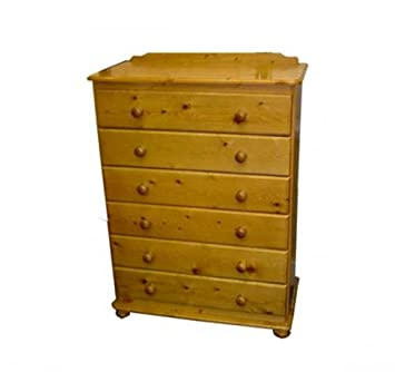 Wye Pine Woodland 30' 6 Drawer - Finish: Unfinished - Stain: Waterbased