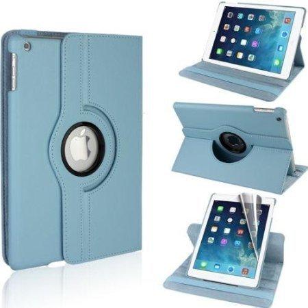 G4GADGET ® Custodia di protezione in pelle per Apple iPad/2/3/4/Mini/Air Supporto verticale e orizzontale a rotazione 360°