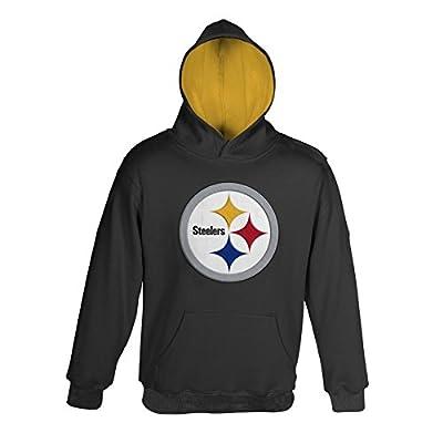 Pittsburgh Steelers Youth Primary Gear Black Hooded Sweatshirt