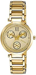 Aspen Power Bold Analog Beige Dial Womens Watch - AP1731