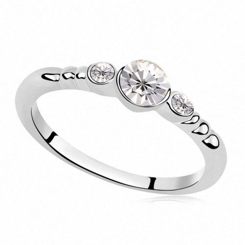 TAOTAOHAS- [ Search Name: Love You the Best ] Size 9 (1PC) Crystallized Swarovski Elements Austria Crystal Ring, Made of Alloy Plated with 18K True Platinum / White Gold and Czech Rhinestone, Size 9, (Intl. C.:59.5mm, Intl. D.: 18.9mm)