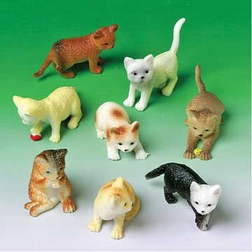 Mini Cat Figures Asst. (12 count)