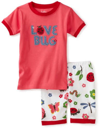 Hatley Short P.J. Set - Nordic Bugs Love Bug Girl's Pyjames