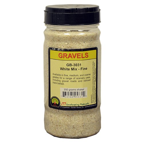 JTT Scenery Products Ballast and Gravel, White Mix, Fine