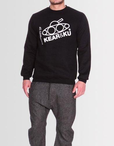 Kear and Ku Mens Slant Sweatshirt Black : Black - Xxl