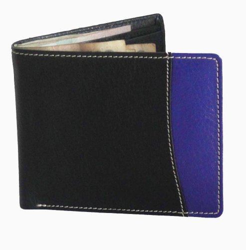 Torino Black & Purple Leather wallet for Men (multicolor)