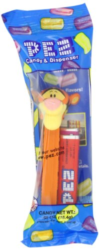 Pez Winnie The Pooh, 0.58-Ounce Assorted Candy Dispensers (Pack Of 12)