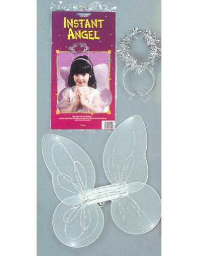 girls - Angel Instant Child Halloween Costume - Most Children