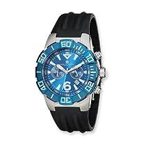 Charles Hubert Stainless Steel Case Blue/Black Chronograph Watch