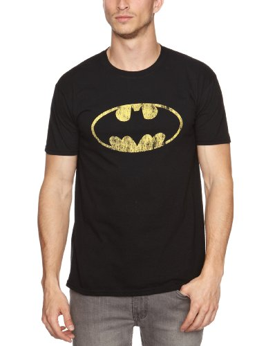 T-Shirt-(Xl)-Batman-Distressed Shield