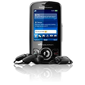 Sony Ericsson Spiro Black FM Radio Mobile Phone on Vodafone PAYG
