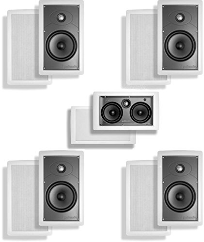 Polk Surround System:2 Pairs Of Sc-65I, One Sc-C In-Wall Center(Bundle Of 5 Speakers)