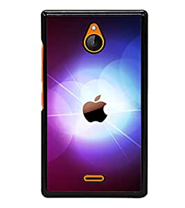 printtech Apple Glow Back Case Cover for Nokia X2 Dual SIM