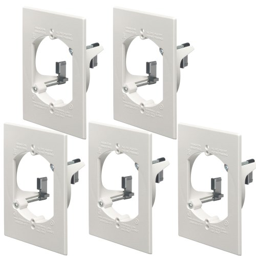 Arlington LV1RP-5 Low Voltage Quick Mount Mounting Bracket 5-Pack, 1-Gang