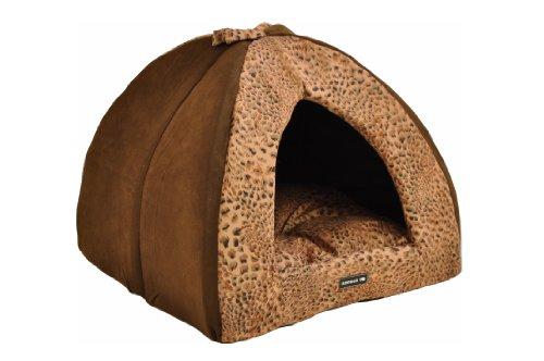 Artikelbild: nanook Hunde-Höhle Katzen-Höhle SAFARI, für kleine Hunde, Katzen und Klein-Tiere Größe S, braun Leoparden-Muster