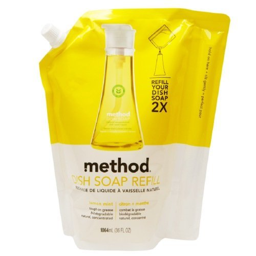 Method Gel Dish Pump Refill 36oz, Lemon Mint (Pack of 2) (Method Dish Detergent Refill compare prices)