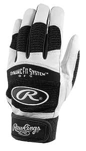 Rawlings BGP355A-B-89 Batting Gloves, Medium (Black)