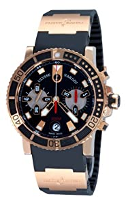 Ulysse Nardin Men's 8006-102-3A-92 Maxi Marine Diver Chronograph Rose Gold Chronograph Watch Watch