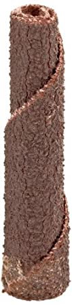 "Merit Abrasive Cartridge Roll, Aluminum Oxide, 1/8"" Arbor, Roll 1/4"" Diameter x 1-1/2"" Length, Grit 80 (Pack of 100)"