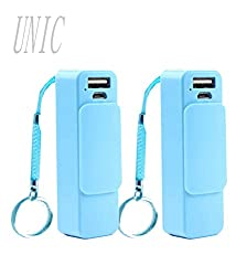 UNIC Combo of 2 Portable Charger 2600 mAh USB Power Bank with Keyring UNP1