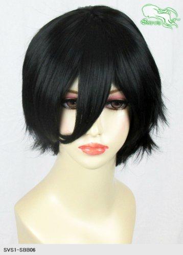 スキップウィッグ 魅せる シャープ 小顔に特化したコスプレアレンジウィッグ マニッシュショート ブラック
