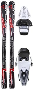 Buy Fischer Viron Force Fp9 Skis w  RS 10 Bindings White Black Mens by Fischer