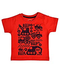 boys pepito t-shirt red 6-9 M