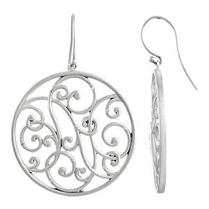 Genuine IceCarats Designer Jewelry Gift Sterling Silver Diamond Earrings. Pair 1/10 Ct Tw Diamond Earrings In Sterling Silver