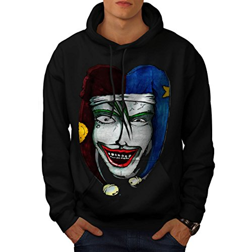 Smiling Scary Clown Joker Laugh Men NEW XXXL Hoodie | Wellcoda (Scary Smiling Clown)