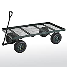 "Sandusky Lee FW6036 Green Heavy Duty Steel Flat Wagon, 800 lbs Capacity, 60"" Length x 36"" Width x 17"" Height"