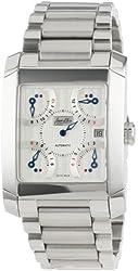 Jean D'eve Men's 927051AA.AA Quarta Automatic Silver Dial Stainless-Steel Bracelet Watch