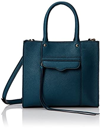 Rebecca Minkoff MAB Tote Mini Cross-Body Handbag,Petrol,One Size